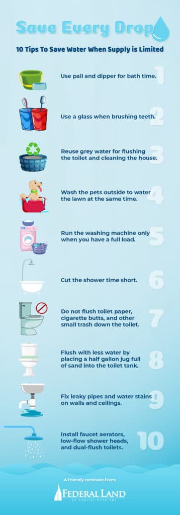 10 TIPS TO SAVE EVERY DROP WHEN WATER IS LIMITED